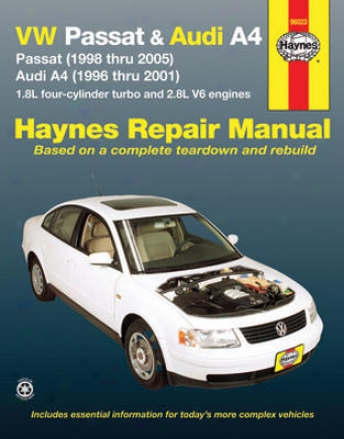Vw Passat (1998-2005) & Audi A4 (1996-2001) Haynes Repair Manual