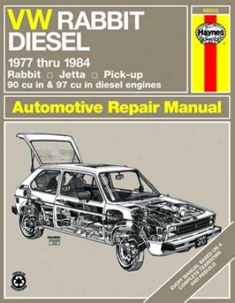 Vw Rabbit, Jetta & Pick-up Haynes Repair Manual (1977 - 1984)