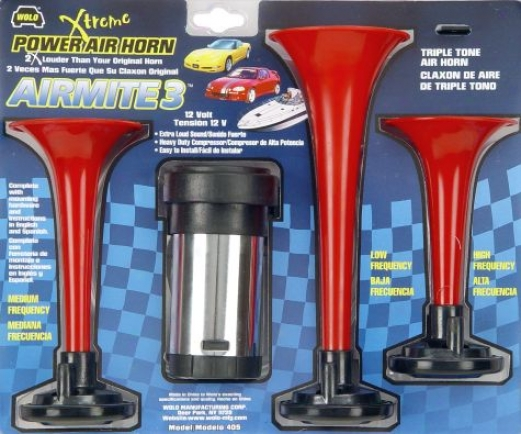Wolo Airmite 3 Triple Tone Air Horn