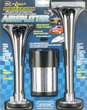 Wolo Airsplitter Dual Tnoe Air Horn Fir Motorcyclrs