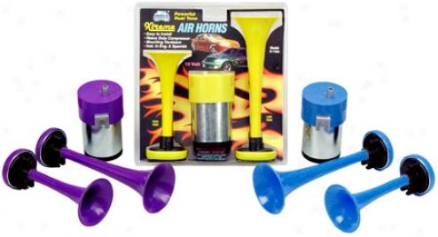Wolo Powerful Dual Tone Xtreme Air Horns