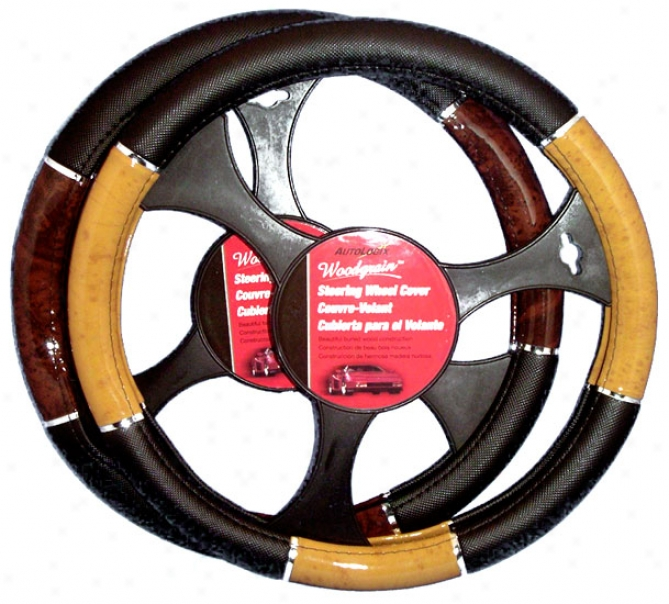 Wood Grip Steering Wheel Cover