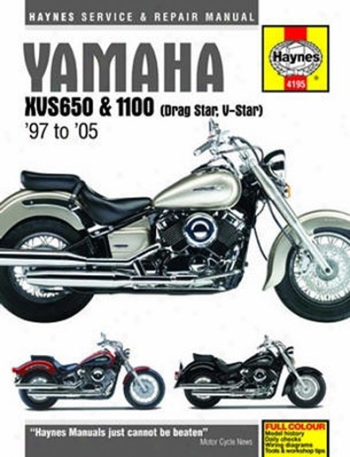 Yamaha Xvs650 And 1100 Haynes Repair Of the hand Cover (1997 - 2005)