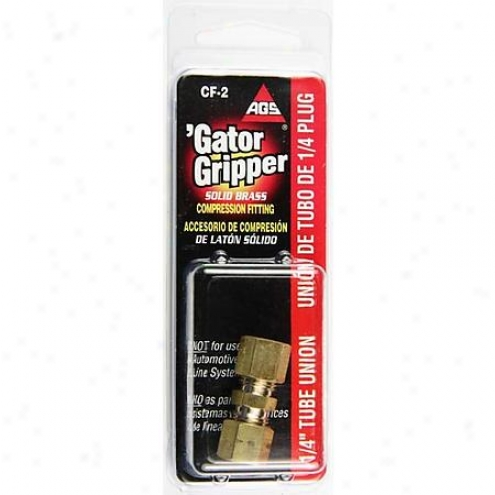 American Grease Stick Co. Brass Comp 1/4 In Union - Cf-2