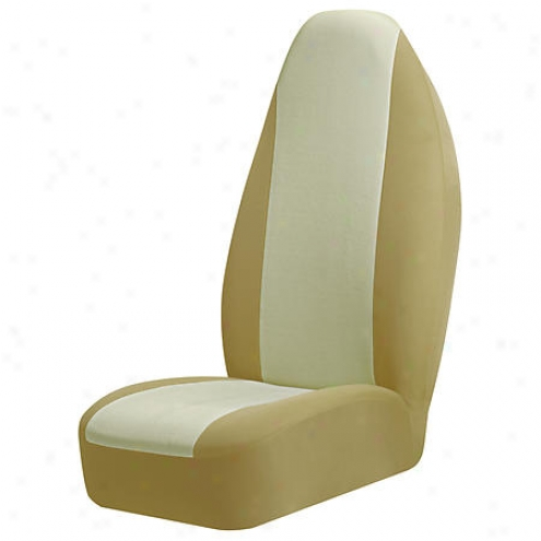 Auto Expressions Braxton Seat Cover, Tan, Universal Bucket - 50406221