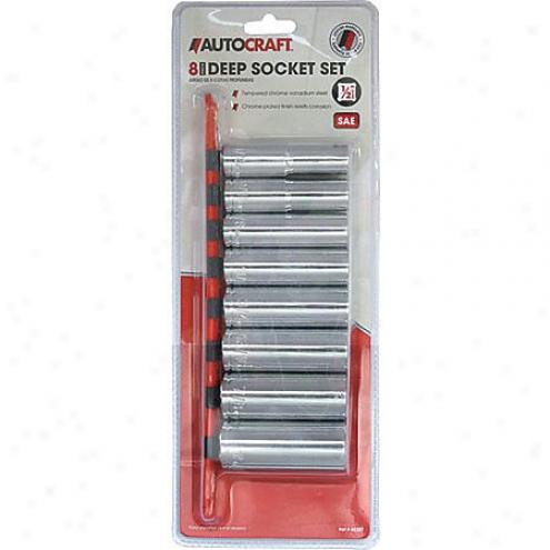 Autocraft 8-piece 1/2inch Drive 6pt Socket Set Sae - Ac327