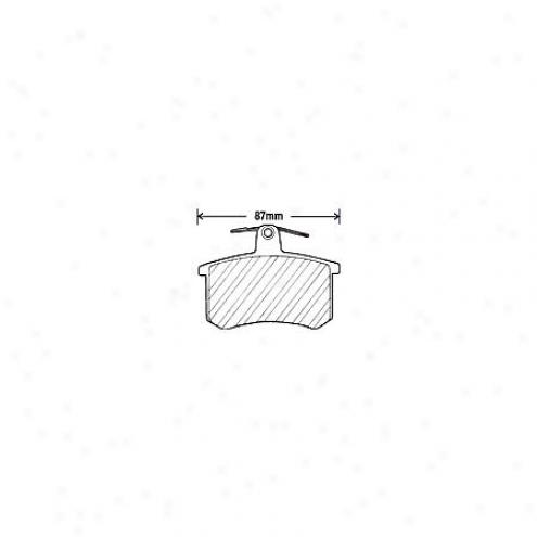Beck/arnley Brake Pads/shoes - Rear - 082-1199