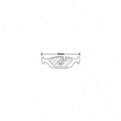 Beck/arnley Brake Pads/shoes - Rear - 082-1235