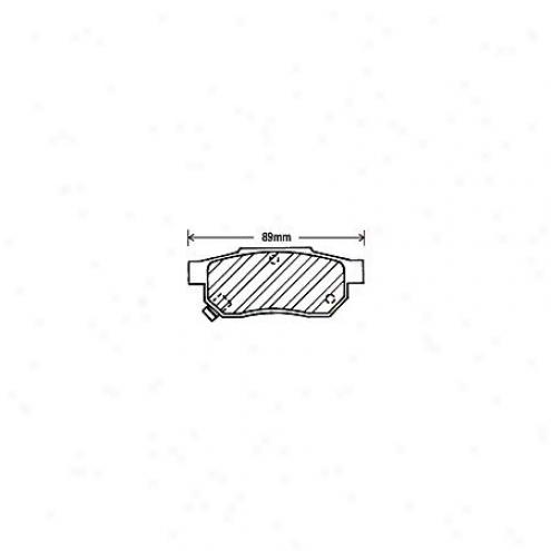 Beck/arnley Brake Pads/shoes - Rear - 082-1431