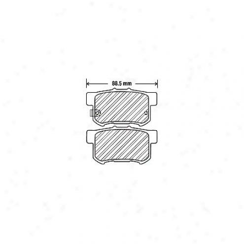 Beck/arnley Brake Pads/shoes - Rear - 082-1498