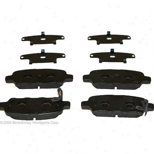 Beck/arnley Brake Pads/shoes - Rear - 086-1687c