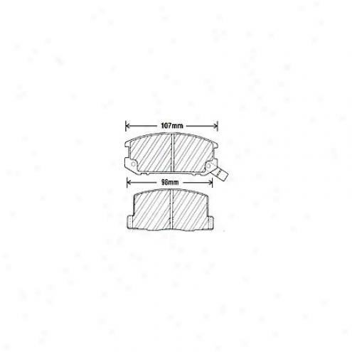 Beck/arnley Brake Pads/shoes - Rear - 087-1286