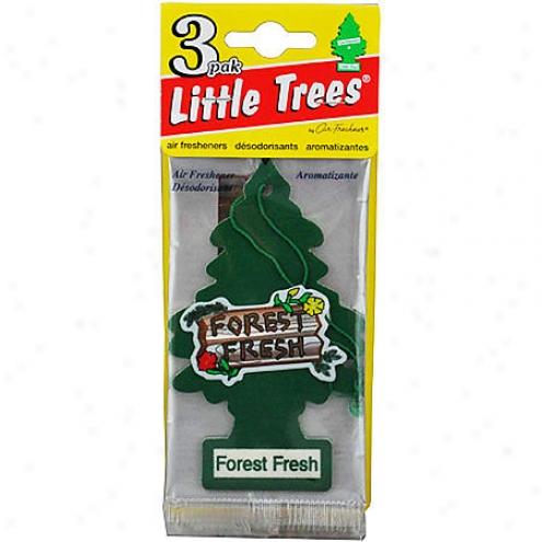 Car Freshner Little Trees Forest Fresh Air Fresheners (3-pack) - U3s-32009