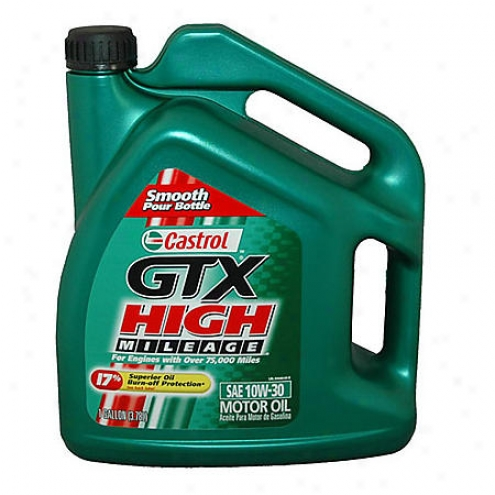 Castrol Gtx High Mileage 10w-30 Motor Oil (1 Gallon) - 03440
