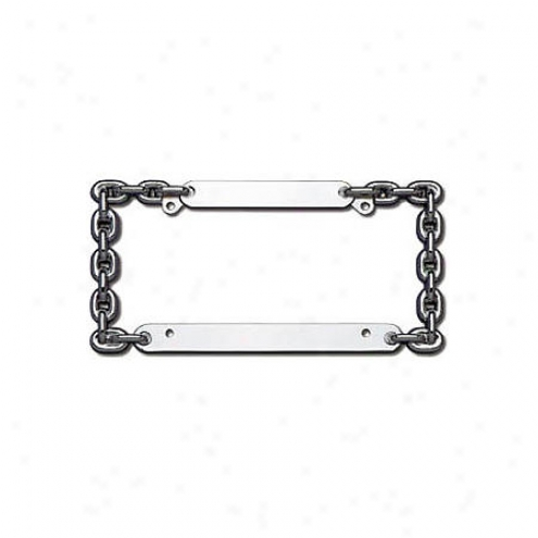 Cruiser License Frame: Chain; Chrome - 20530