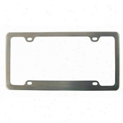 Custom Accessories Lic Frm Br8shed Aluminum - 92544