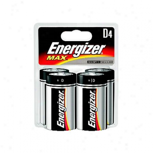 Energizer Max D Alkaline Batteries (4-pack) - E95bp-4