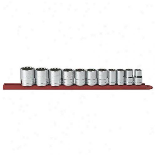 Gear Wrench 11 Pc. 1/2 Inch Dr. 12pt. Std Sae Socket Set - 80711