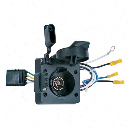 Hoppy Adapter 4-wire Flat To 7rv Buck And 4-wire Flat - 47185