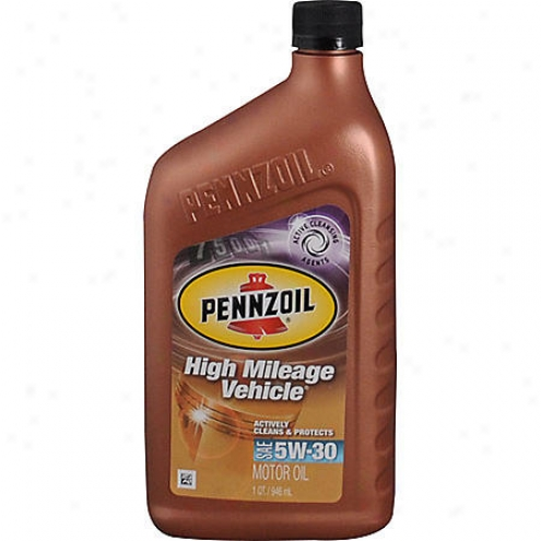 Pennzoil High Mileage 5w-30 Conventional Vehicle Motor Oil (1 Qt.) - 161452