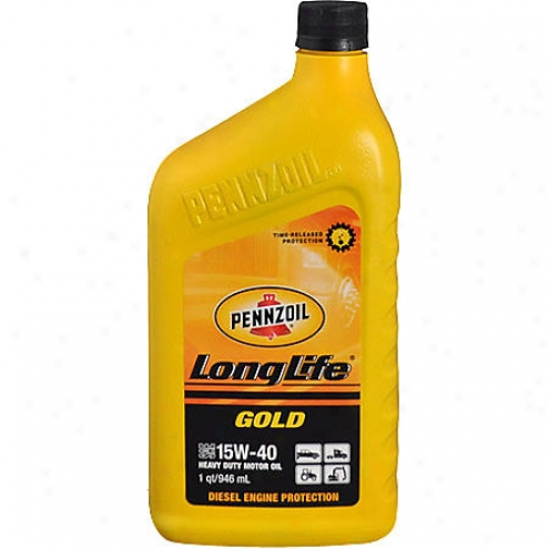 Pennzoil Long-lif3 Gold 15w-40 Heavy Duty Motor Oil (1 Qt.) - 3713