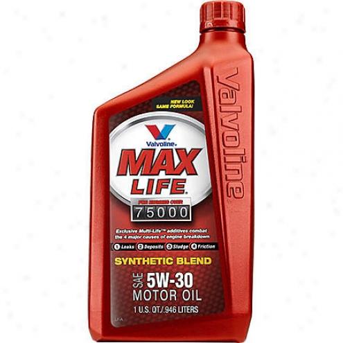 Valvoline Maxlife 5w-30 Synthetic Blend Motor Oil (1 Qt.) - 155