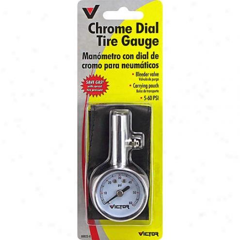 Victor Mini Dial Gauge W/ Bleeder Valve And Case - 60023-8