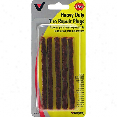 Victor Tire Repair Plugs - Brown - 5 Pc - V-112