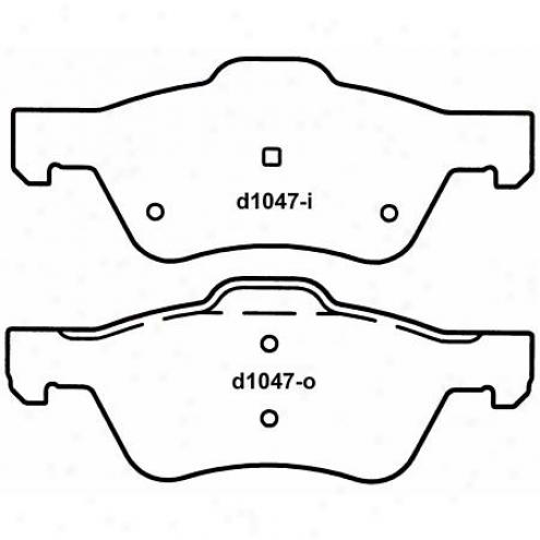 Wagner Thrrmoquiet Nao Ceramic Disc Pad - Qc1047
