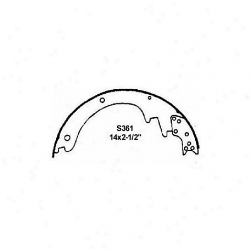Wagner Thermoquiet Riveted Brake Shoe - Ana361r