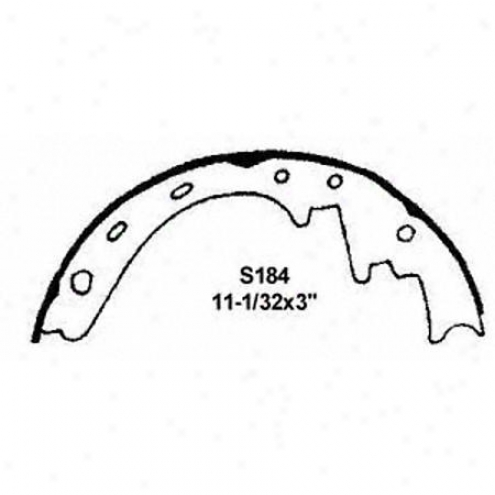 Wagner Thermoquiet Riveted Brake Shoe - Pab184r