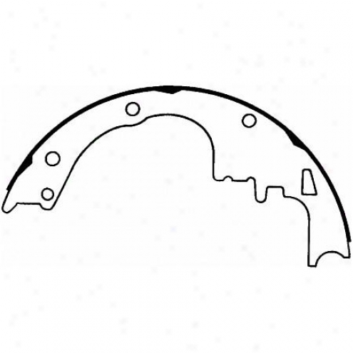 Wagner Thermoquiet Riveted Brake Shoe - Pab246r
