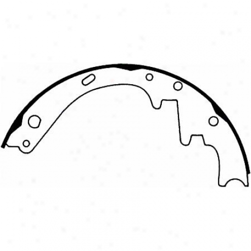 Wagner Thermoquiet Riveted Brake Shoe - Pab264r