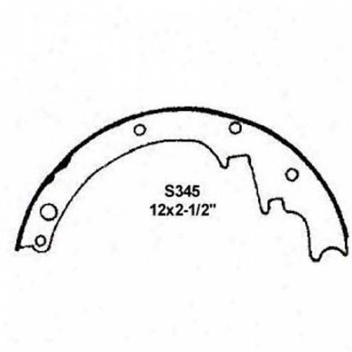 Wagner Thermoquiet Riveted Brake Shoe - Pab345r