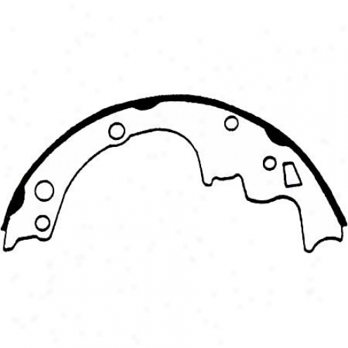 Wagner Thermoquiet Riveted Brake Shoe - Pab514r