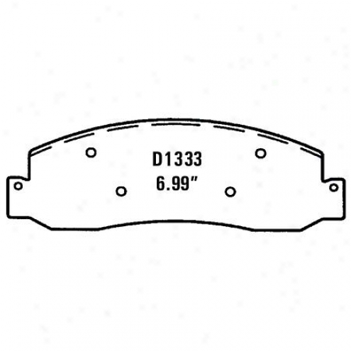 Wearever Gold Brake Pads Gold - Gmkd 1333