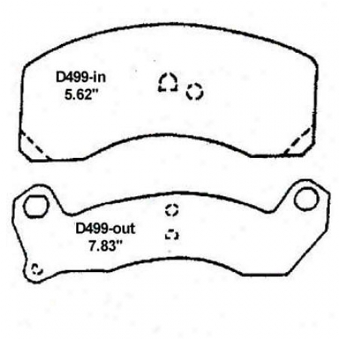 Wearever Gold Brake Pads-gold - Gmkd 499