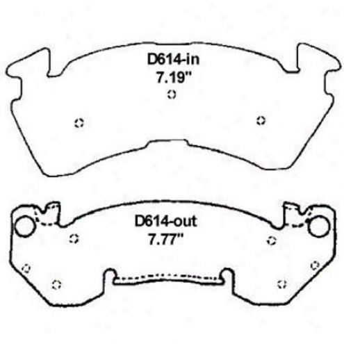 Wearever Gold Brake Pads-gold - Gmkd 614