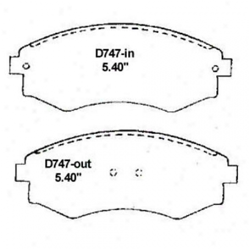 Wearever Gold Brake Pads Gold - Gmkd 747
