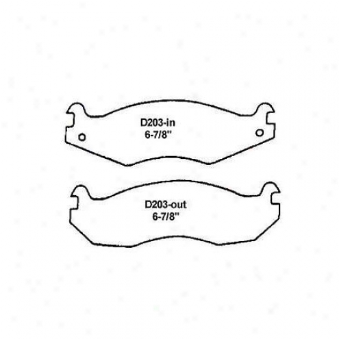 Wearever Gold Brake Pads/shoes - Front - Gmkd 203