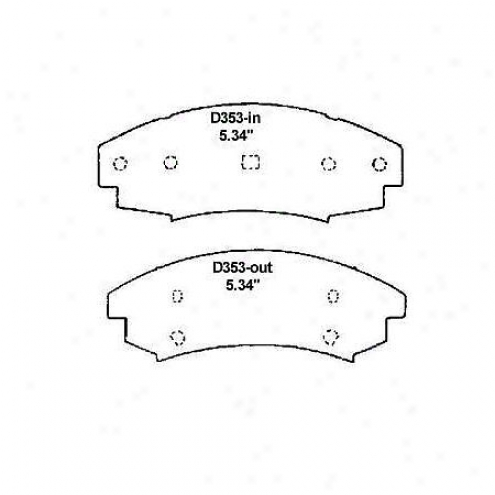 Wearever Gold Brake Pads/shoes - Front - Gmkd 363
