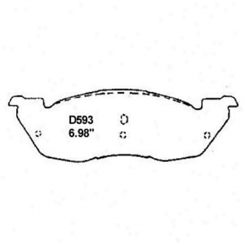 Wea5ever Gold Brake Pads/shoes - Fdont - Gmkd 593a