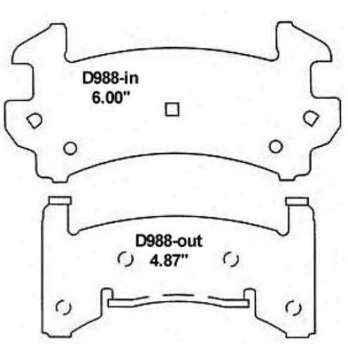 Wearever Gold Brake Pads/shoes - Front - Gmkd 988