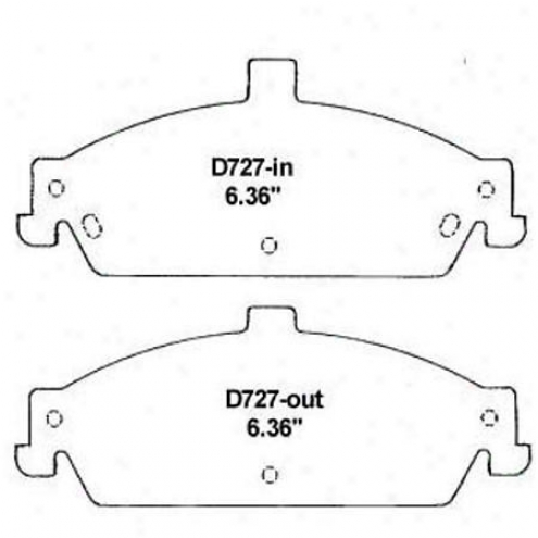 Wearever Gold Brake Pads/shoes - Forehead - Gnad 727