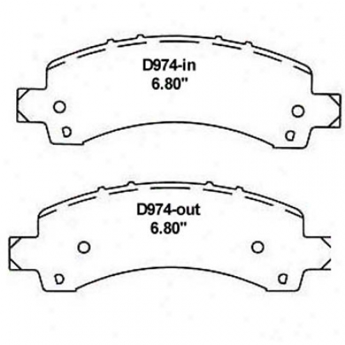 Wearveer Gold Brake Pads/shoes - Rear - Gmkd 974a