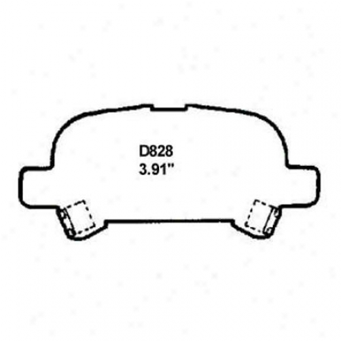 Wearever Gold Brake Pads/shoes - Rear - Gnzd 828