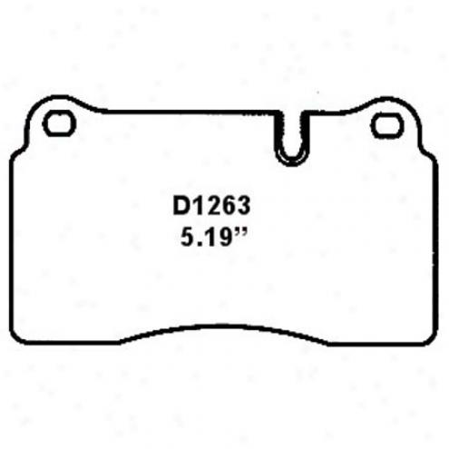 Wearever Silver Brake Pads Silver - Nad 1263