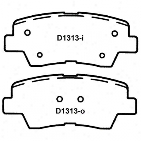 Wearever Silver Brake Pads Silver - Nad 1313
