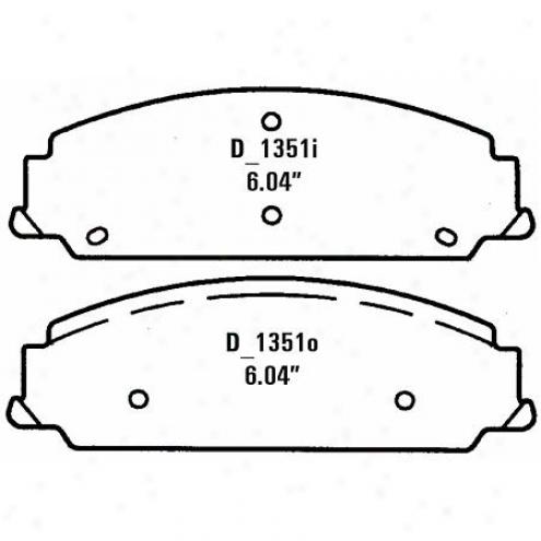 Wearever Silver Brake Pads Silver - Nad 1351