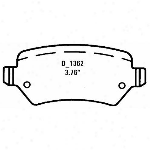 Wearever Silver Brake Pads Silver - Nad 1362